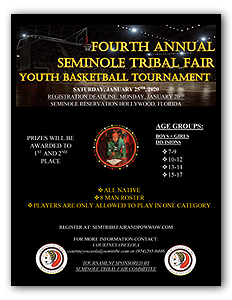 Seminole Tribal Fair Youth Basketball Flyer
